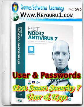 eset smart security 7 username