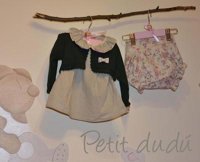 blusón y cubrepañal Petitdudu