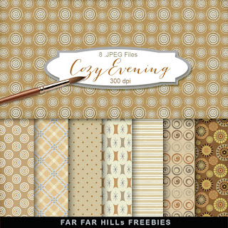 New Freebies Kit of Backgrounds - Cozy Evening