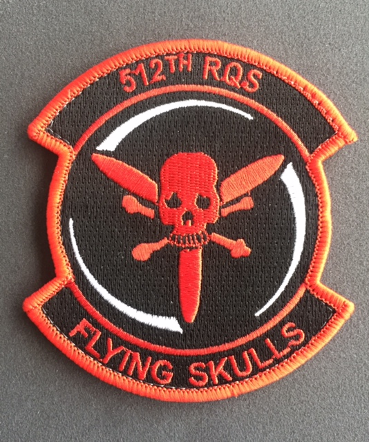 patch 512th RESCUE SQUADRON  !!THEIR LATEST!