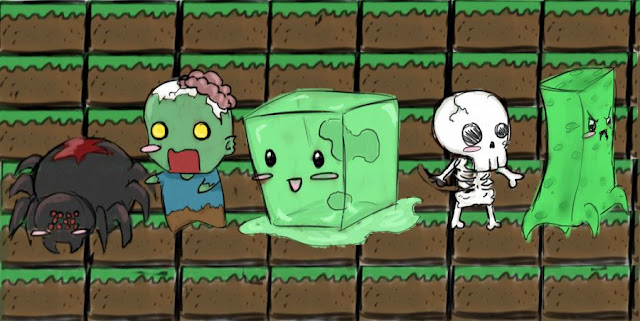 minecraft dibujo monstruos