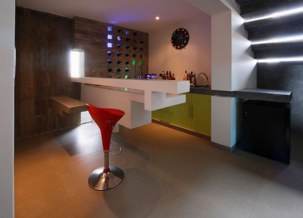 Decoraci n minimalista y contempor nea casa con fachada e for Foto casa minimalista