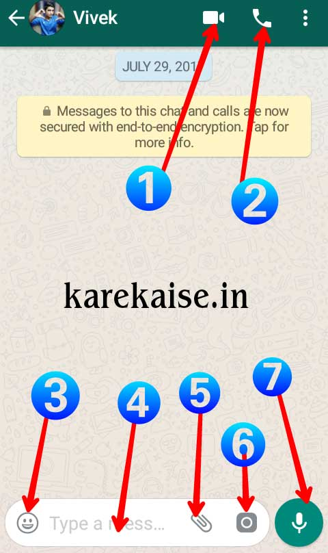 Whatsapp par chatting kare