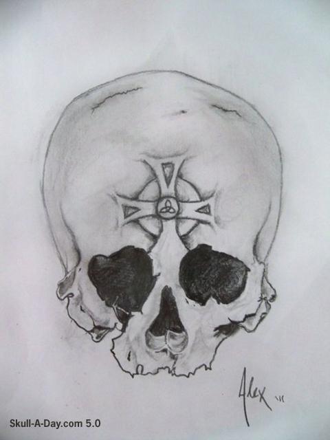 tattoo sketch skull