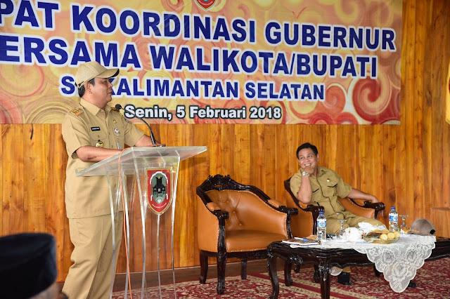 Respon Cepat Arahan Presiden, Paman Birin Gelar Rakor Kepala Daerah di Kalsel