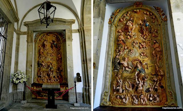 Altar barroco na Sé de Braga, Portugal