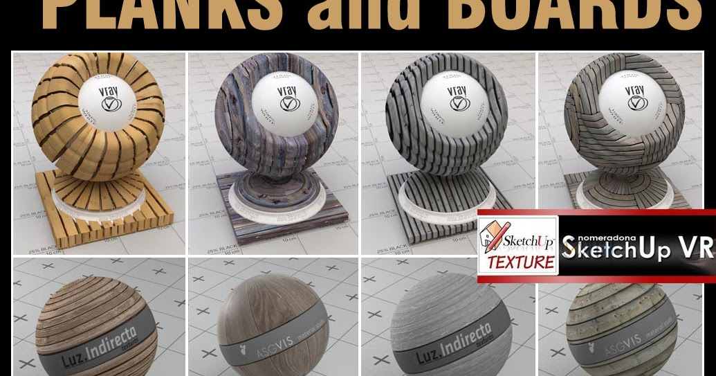 Sketchup Texture Vismat Vray For Su Planks And Boards 1
