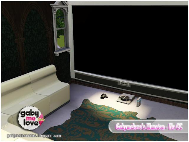 Gabymelove's Mansion |NO CC| ~ Lote Residencial, Sims 3. Cine en casa.