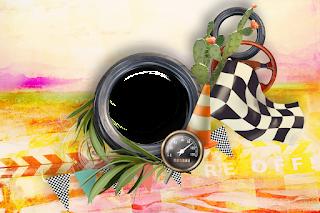 Marcos, Tarjetas o Invitaciones Retro de Coches o Carros de Carreras para Imprimir Gratis.