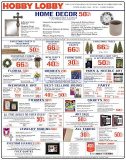Hobby Lobby Weekly Ad December 16 - 22, 2018