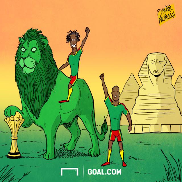 Cameroon win AFCON cartoon
