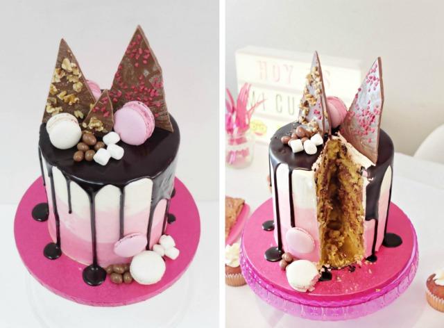 tarta de cumpleaños tendencia 2016 - pasteleria fresa y chocolate fuenlabrada