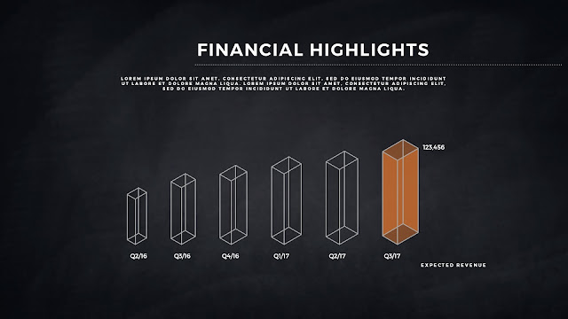 Financial Highlights And Infographic Elements in Free PowerPoint Template Slide 12