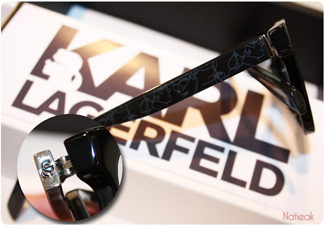 Modèle optique, silhouette de Karl Lagerfeld