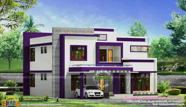 Contemporary Home Design Nobexe Interiors - Kerala