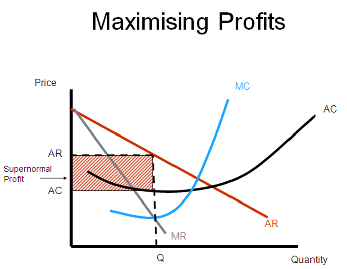 market structure maximize profits essay example Saved essays since the goal of all business is to maximize profits a classic example of this market structure would be street food vendors.