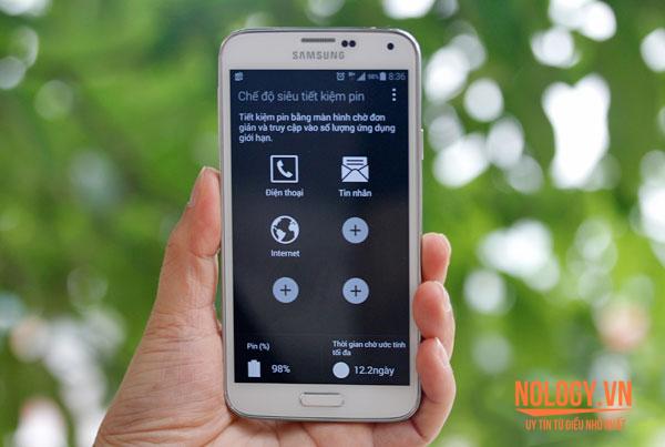 Chế độ siêu tiết kiệm pin trên Samsung Galaxy S5 cũ