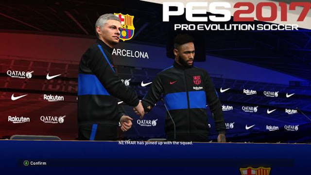 PES 2017 Barcelona Press Room And Manager Kits