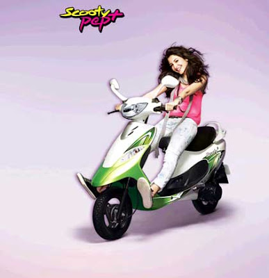 2016 TVS Scooty Pep Plus Hd Wallpaper with anushka sharma 01