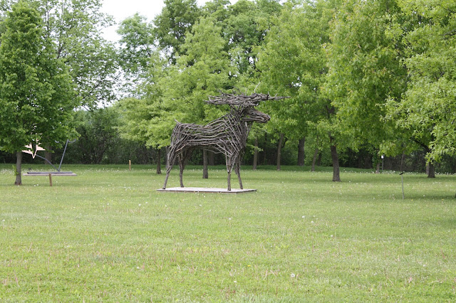 Wood moose sculpture Red Wing, MN