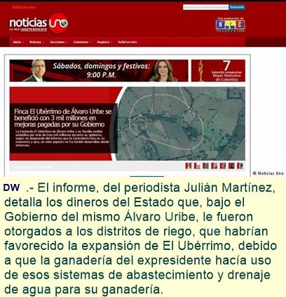 """Libertad de Prensa en Colombia: """"Uribe pone en riesgo a periodista"""""""
