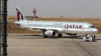 طائرة قادمة من قطر