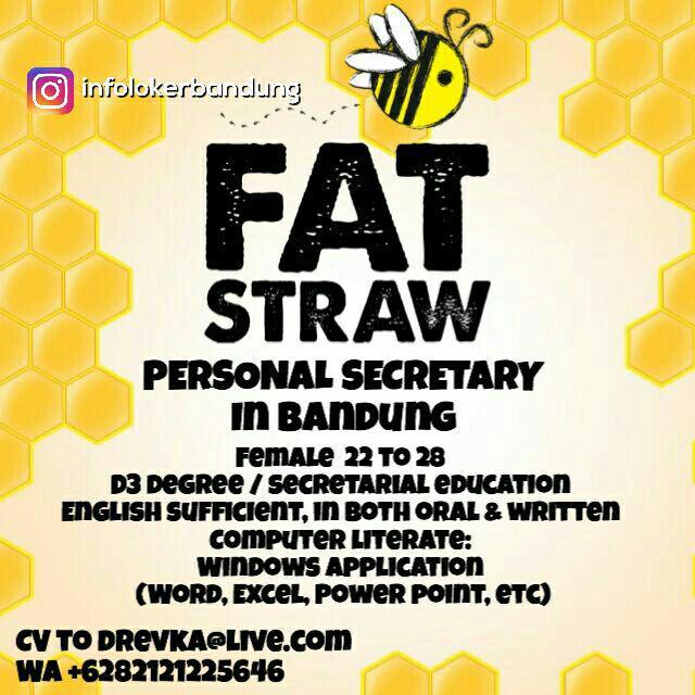 Lowongan Kerja Fat Straw Bandung Juli 2017