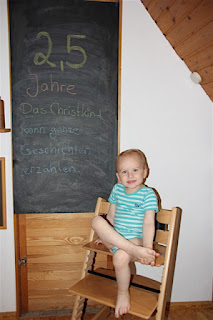 Tafelbild 2,5 Jahre Christkind