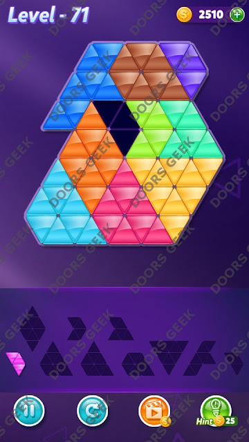 Block! Triangle Puzzle Master Level 71 Solution, Cheats, Walkthrough for Android, iPhone, iPad and iPod