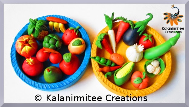 kalanirmitee: cold porcelain- lamasa craft- vegetables- fruits