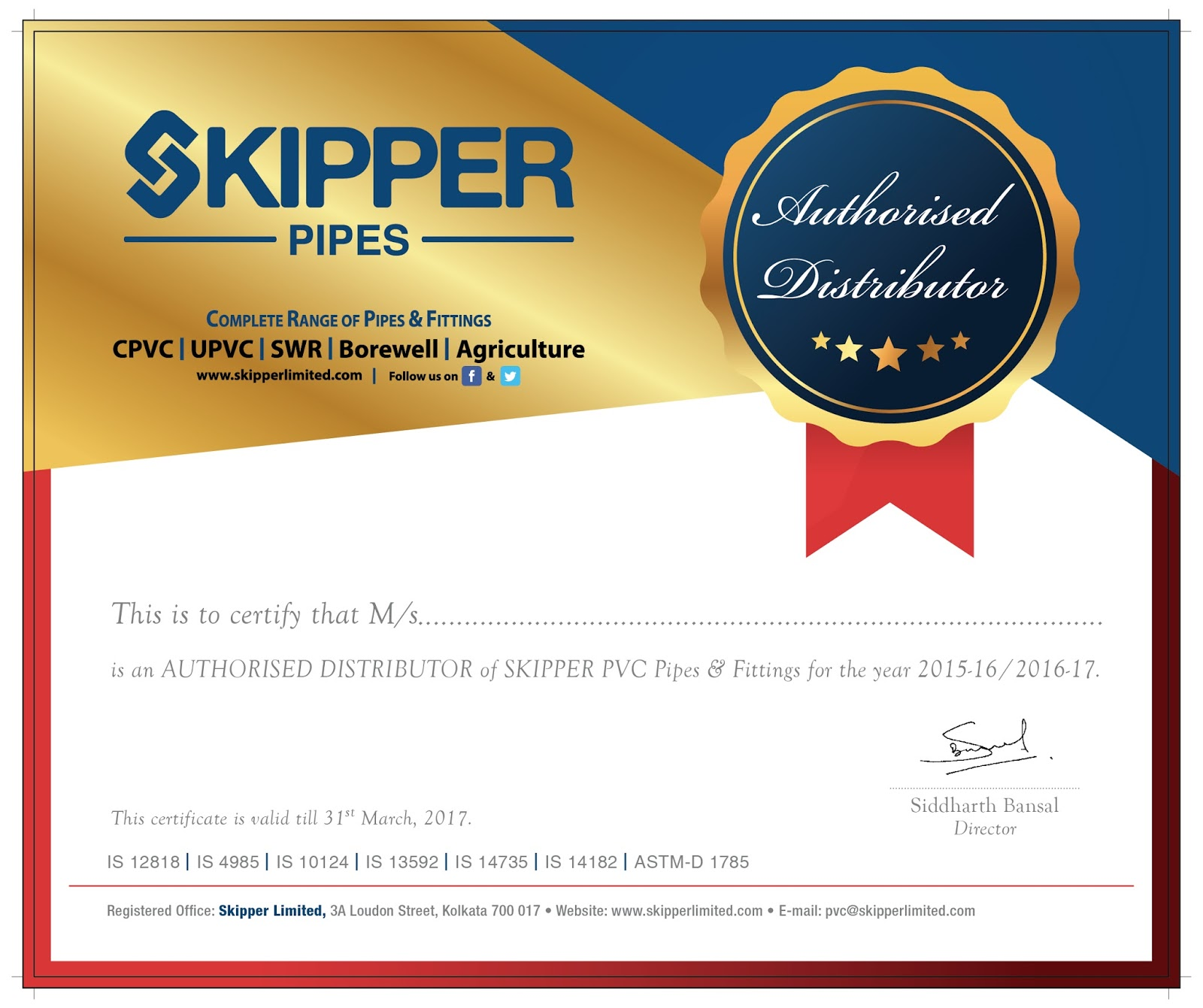Distributor certificate distributor certificate share altavistaventures Choice Image