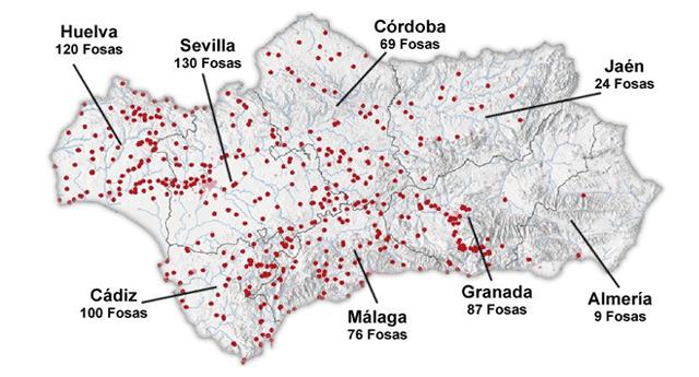 Andalucía ultima los detalles para la exhumación de 12.000 víctimas del franquismo