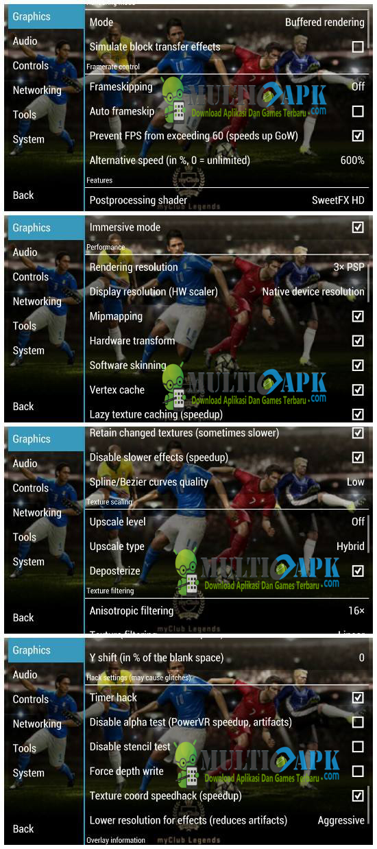 Cara Setting Game PES 2016 PPSSPP di Android Work No Lag ...
