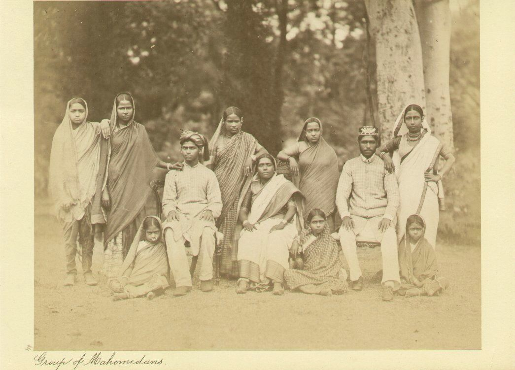 Group Family Photogaph of Mahomedans (Muslim) -1890's