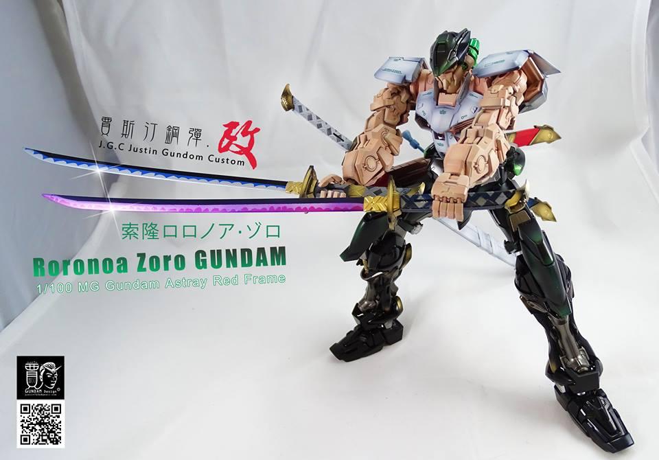 Custom Build: Gundam x One Piece Roronoa Zoro MG 1/100 Gundam Astray ...