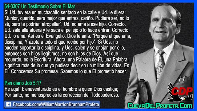 Bienaventurado es el hombre a quien Dios castiga - Citas William Branham Mensajes