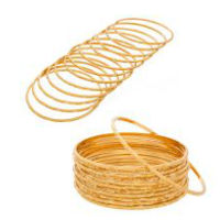 Designer Gold Plated Bangles ( set of 12 ) For Rs 99 At Shopclues
