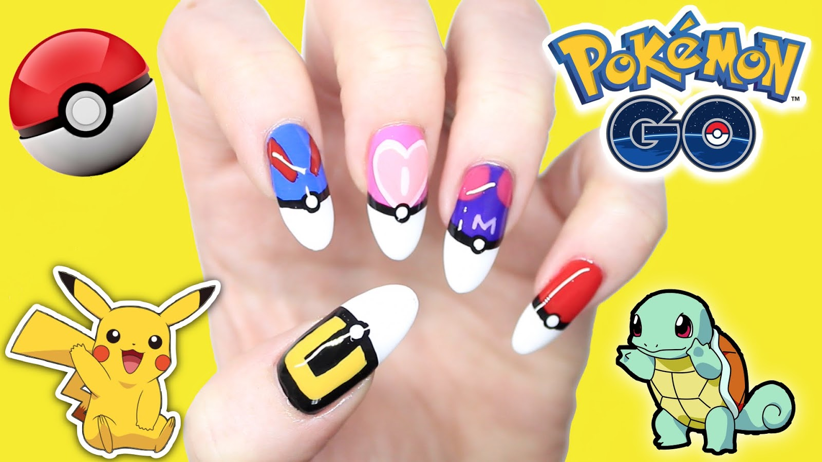 Join The Pokemon Go Rush With Pokemon Nails Diy
