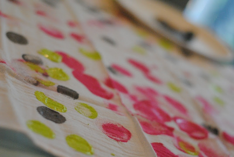Happy Dots Reusable Napkins Kids Craft Idea