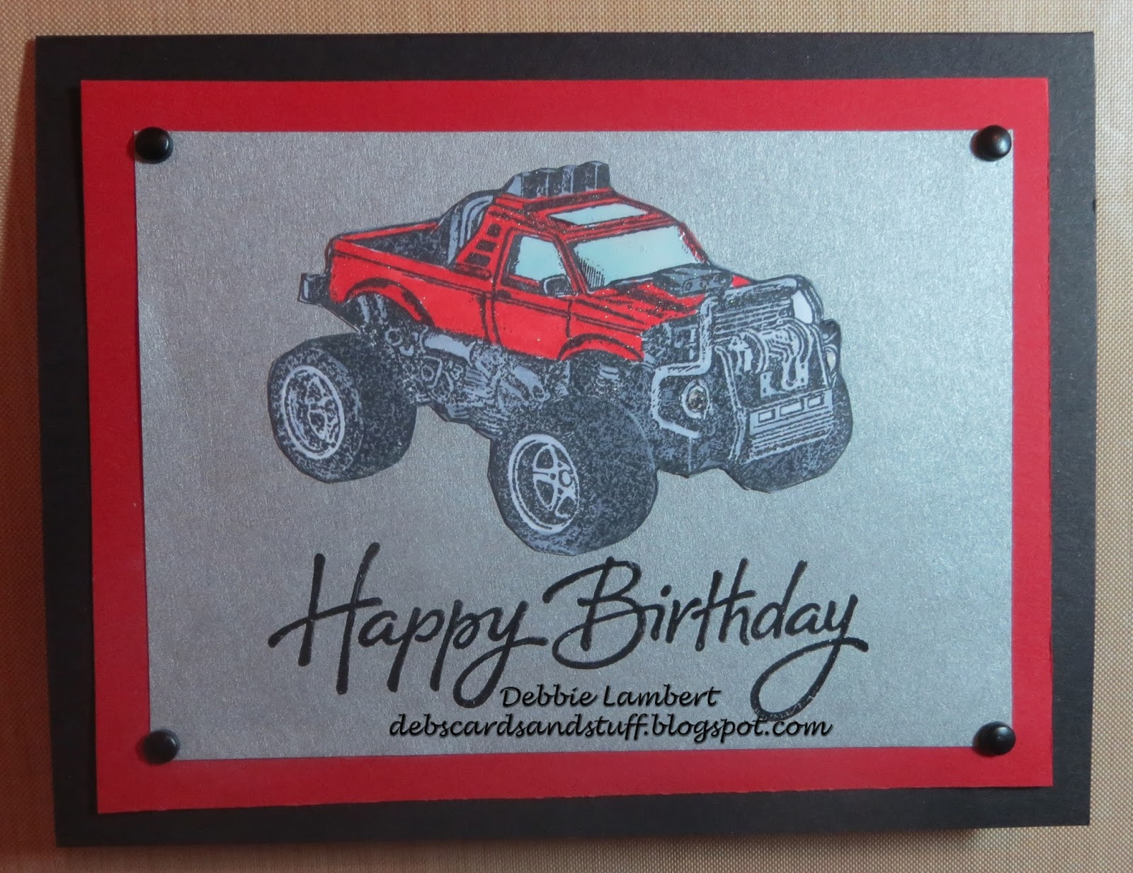 Debbies Creations Monster Truck Birthday Card