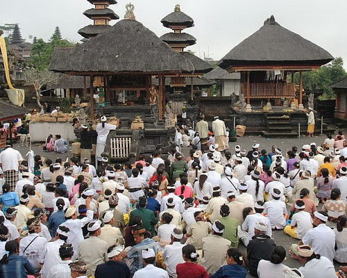 Tinuku Travel Great Besakih temple is center religious rituals Hindu Dharma Bali stands majestically on slopes Mount Agung