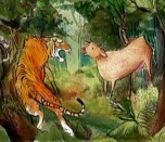 Cuento corto en inglés: The cow and the tigers