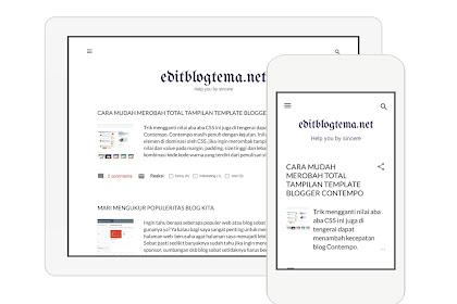 Panduan mengedit dan merombak template blogger contempo bagian ke 2