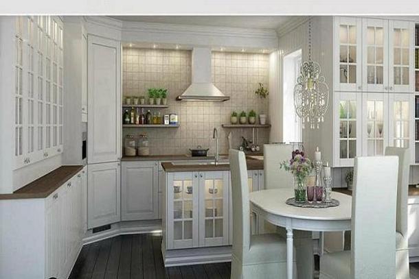 Cocinas de aspecto moderno con madera blanca cocina y for Mesas para cocinas blancas