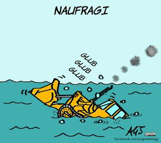 aquarius, migranti, ong, navi, salvini, ruspa, vignetta, satira