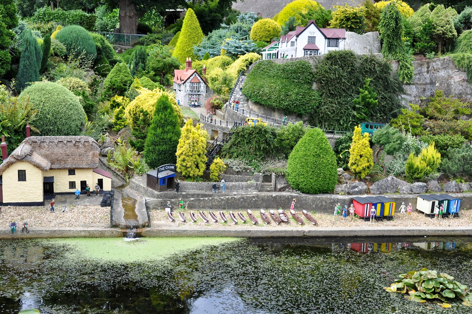 The beach, Model Village, Godshill, Isle of Wight, UK