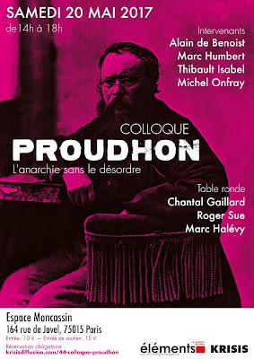 Colloque Proudon Isabel, de Benoist, Onfray