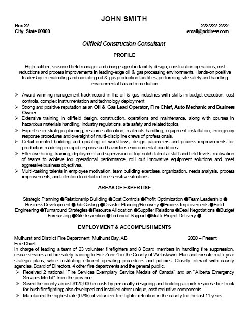 Example Of A Oilfield Consultant Resume Sample: Resume Samples: Quality Consultant Resume