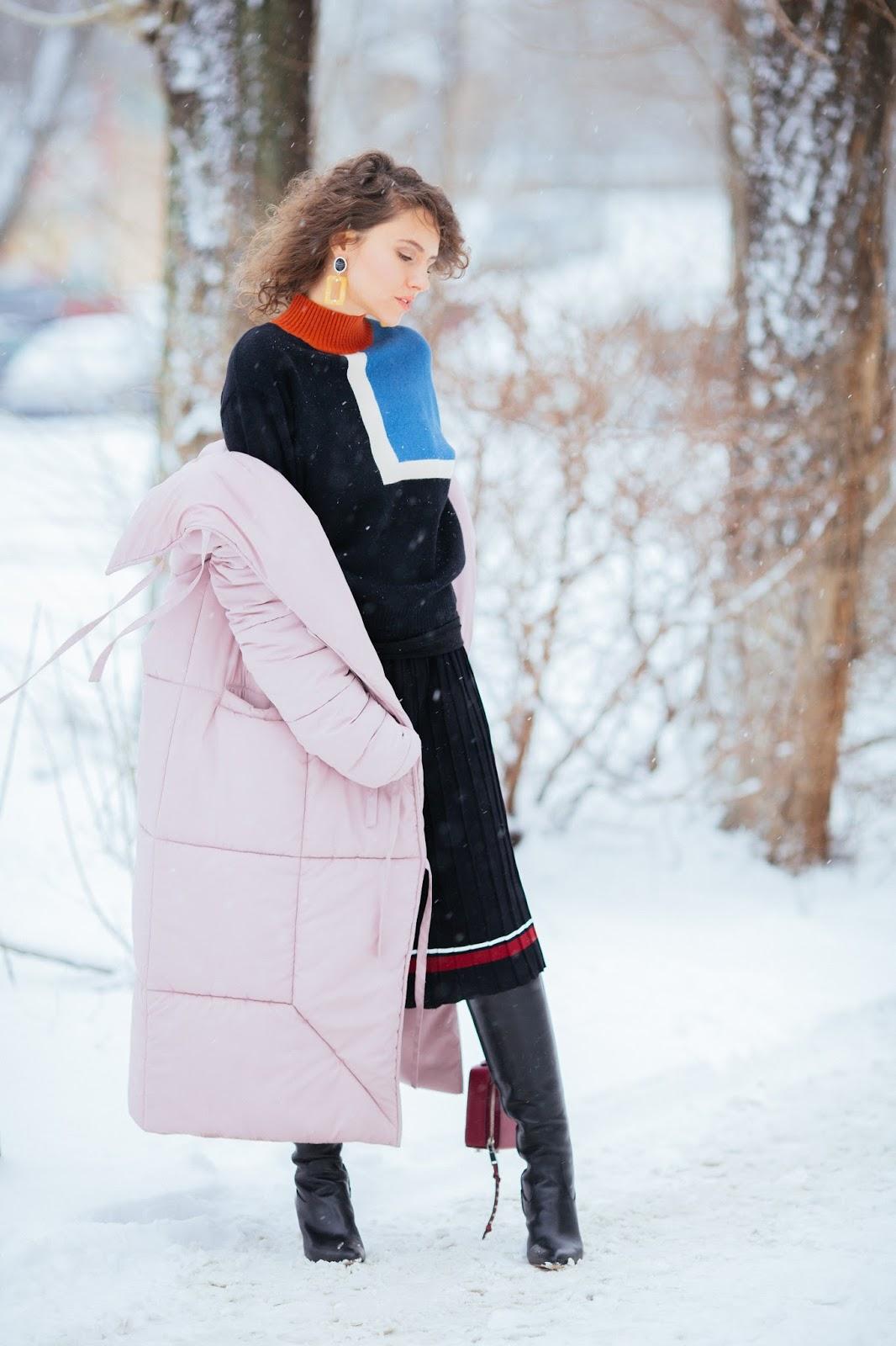 теплый лук на снежную погоду