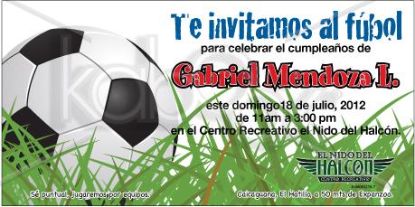 Invitaciones Y Tarjetas Cumpleaños Y Futbol
